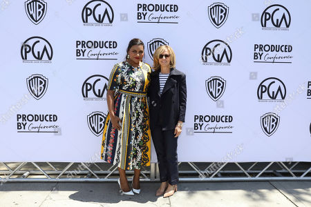 Mindy Kaling, Nancy Meyers. Mindy Kaling and Nancy Meyers attend the Produced By Conference at Warner Bros. Studios, in Burbank, California