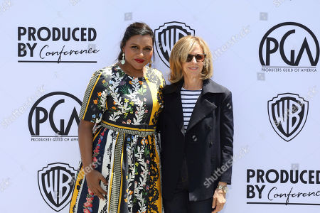 Stock Photo of Mindy Kaling, Nancy Meyers. Mindy Kaling and Nancy Meyers attend the Produced By Conference at Warner Bros. Studios, in Burbank, California
