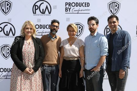 Stock Photo of Alexandra Cunningham, Sanjay Sharma, Yeardly Smith, Eli Horowitz, and Chris Gilberti attend the Produced By Conference at Warner Bros. Studios, in Burbank, California
