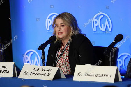 Alexandra Cunningham attends the Produced By Conference at Warner Bros. Studios, in Burbank, California