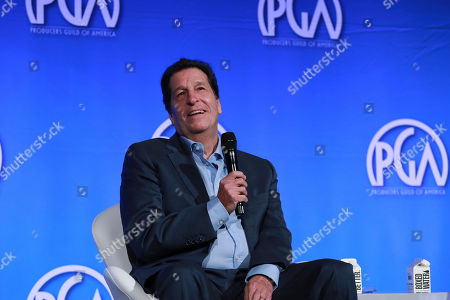 Peter Roth speaks at the Produced By Conference at Warner Bros. Studios, in Burbank, California