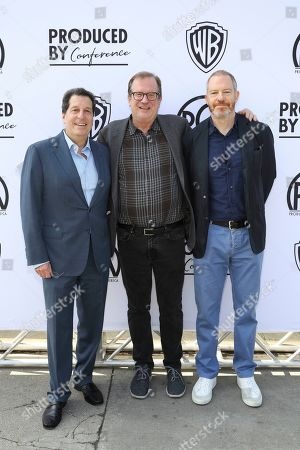 Peter Roth, Pete Hammond, Toby Emmerich. Peter Roth, Pete Hammond, and Toby Emmerich attend the Produced By Conference at Warner Bros. Studios, in Burbank, California