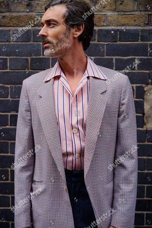 Model Richard Biedul on Brick Lane