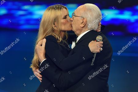 Michelle Hunziker and Pippo Baudo