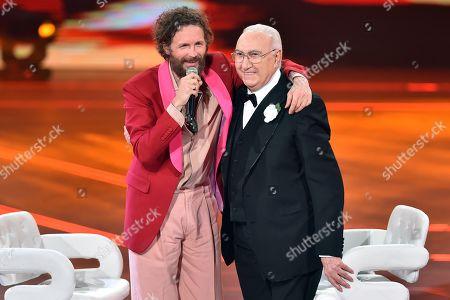 Lorenzo Jovanotti and Pippo Baudo