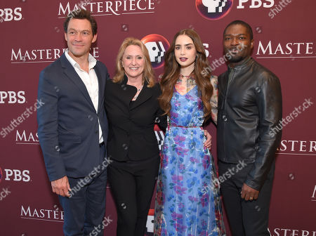 Dominic West, Susanne Simpson, Lily Collins and David Oyelowo