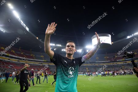 Former Mexican soccer player Rafael Marquez waves during the 'Farewell of Legend, Commitments for Peace' friendly soccer game at the Jalisco Stadium in Guadalajara, Mexico, 08 June 2019.