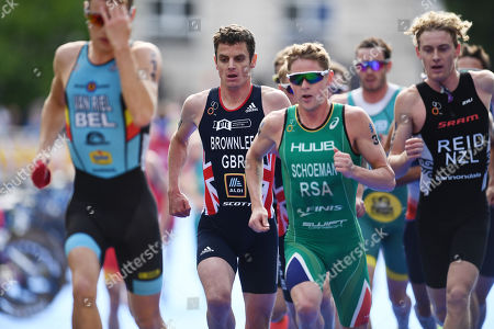 Jonathan Brownlee of Great Britain during the Men's Elite race.