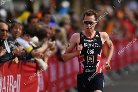 Alistair Brownlee of Great Britain during the Men's Elite race.