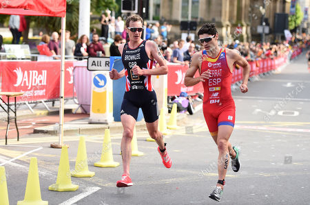 Stock Photo of Alistair Brownlee of Great Britain during the Men's Elite race.