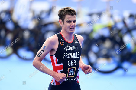 Stock Image of Jonathan Brownlee of Great Britain during the Men's Elite race.