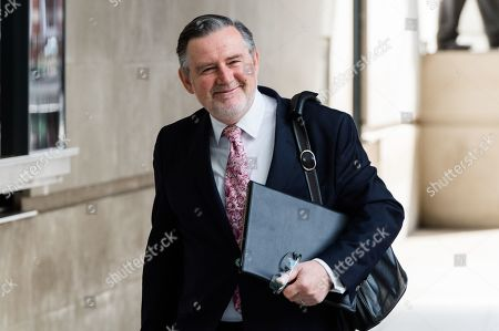 Labour's Shadow Secretary of State for International Trade Barry Gardiner MP arrives at the BBC Broadcasting House in central London to appear on The Andrew Marr Show.