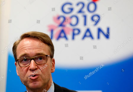 German Bundesbank President Jens Weidmann speaks at a news conference during the G20 Finance Ministers and Central Bank Governors Meeting in Fukuoka, southwestern Japan, 09 June 2019. The G20 finance ministers and central bank governors meeting is taking place in Fukuoka on 08 and 09 June.