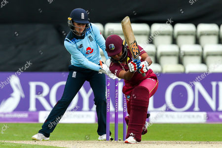Chadian Nation of West Indies Women is bowled by Jenny Gunn of England Women