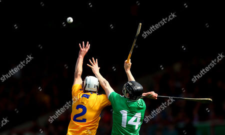 Limerick vs Clare. Clare's Patrick O'Connor and Graeme Mulcahy of Limerick