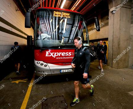 Dublin vs Kildare. Dublin's Philly McMahon arrives