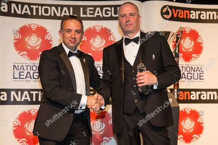Manager of the Year South, Gary Johnson Torquay United collected  by George Edwards during the National League Gala Awards at Celtic Manor Resort, Newport
