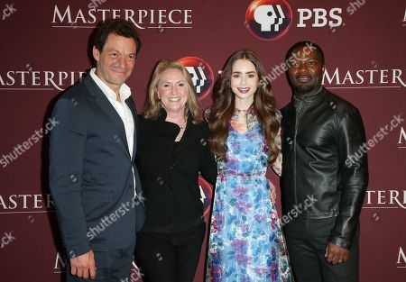 Stock Photo of Dominic West, Susanne Simpson, Lily Collins and David Oyelowo
