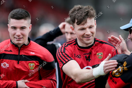 Down vs Tipperary. Down's Donal O'Hare celebrates after the game
