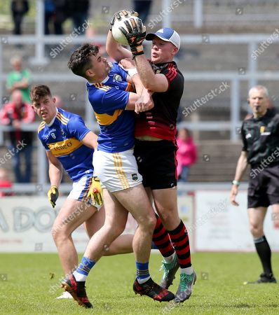 Down vs Tipperary. Down's Rory Burns and Tipperary's Michael Quinlivan
