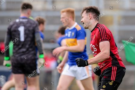 Down vs Tipperary. Down's Donal O'Hare celebrates scoring a goal