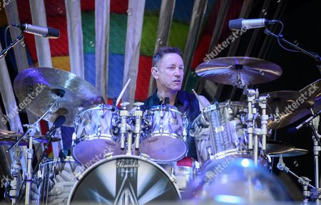 Jimmy Chamberlin of the US alternative rock band The Smashing Pumpkins performs on the Zeppelin stage at the 'Rock im Park' festival in Nuremberg, Germany, 09 June 2019. The festival takes place from 07 to 09 June.