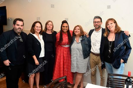 Malcolm Venable, Jonathan King, Cindy Holland, Ava DuVernay, Barry Welsh, Jane Rosenthal, Lucy Fisher, Gail Berman. Lucy Fisher and Gail Berman pose with Jonathan King, Cindy Holland, Ava DuVernay, Barry Welsh and Jane Rosenthal attend the second day of the Produced By Conference 2019 on in Burbank, Calif