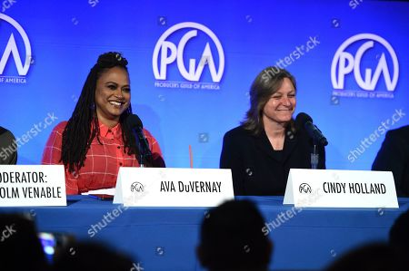 Ava DuVernay, Cindy Holland. Ava DuVernay and Cindy Holland attend the second day of the Produced By Conference 2019 on in Burbank, Calif