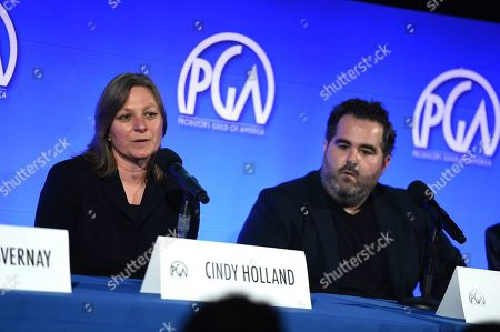 Cindy Holland, Barry Welsh. Cindy Holland and Barry Welsh attend the second day of the Produced By Conference 2019 on in Burbank, Calif