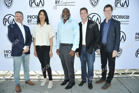 Chris Thomes, Agnes Chu, Craig Erwich, Vernon Sanders, Michael Wright. Chris Thomes, from left, Agnes Chu, Vernon Sanders, Craig Erwich and Michael Wright attend the Produced By Conference 2019, in Burbank, Calif