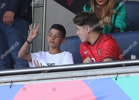 Stock Photo of Cristiano Ronaldo Jnr the son of Cristiano Ronaldo of Portugal in the stands