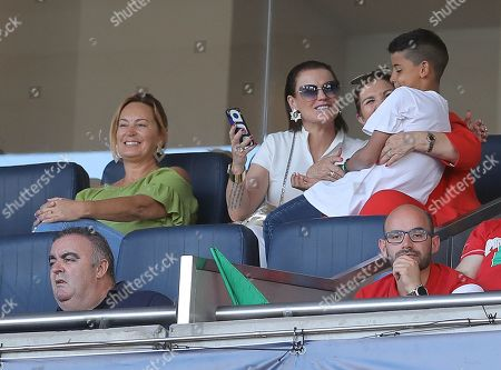 Stock Image of Cristiano Ronaldo Jnr the son of Cristiano Ronaldo of Portugal in the stands
