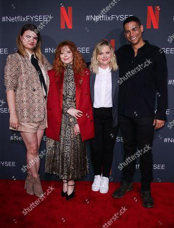 Leslye Headland, Natasha Lyonne, Amy Poehler and Charlie Barnett