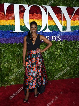 Montego Glover arrives at the 73rd annual Tony Awards at Radio City Music Hall, in New York