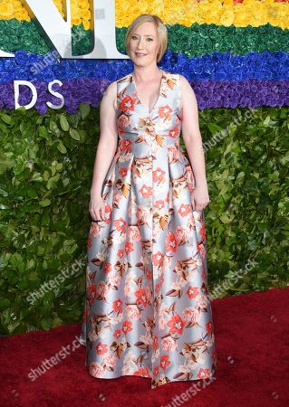 Stock Image of Heather Hitchens, president and CEO, the American Theatre Wing, arrives at the 73rd annual Tony Awards at Radio City Music Hall, in New York