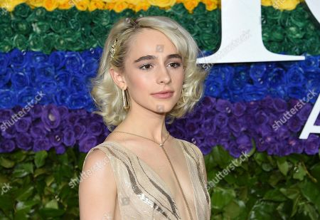 Sophia Anne Caruso arrives at the 73rd annual Tony Awards at Radio City Music Hall, in New York