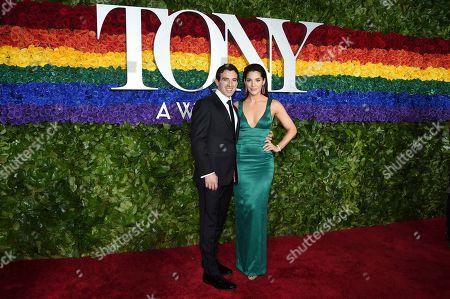 Jarrod Spector, Kelli Barrett. Jarrod Spector, left, and Kelli Barrett arrive at the 73rd annual Tony Awards at Radio City Music Hall, in New York