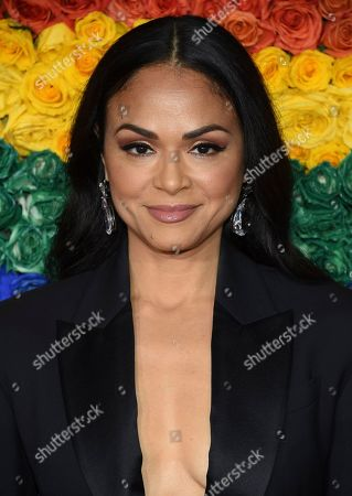 Karen Olivo arrives at the 73rd annual Tony Awards at Radio City Music Hall, in New York