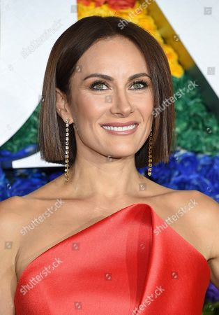 Laura Benanti arrives at the 73rd annual Tony Awards at Radio City Music Hall, in New York