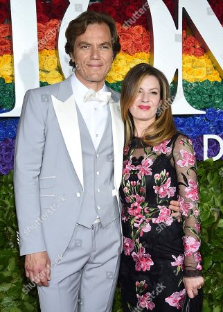 Michael Shannon, Kate Arrington. Michael Shannon, left, and Kate Arrington arrive at the 73rd annual Tony Awards at Radio City Music Hall, in New York