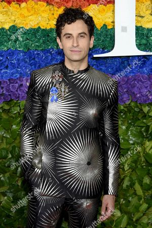 Stock Photo of Brandon Uranowitz arrives at the 73rd annual Tony Awards at Radio City Music Hall, in New York