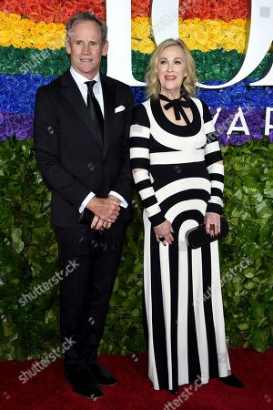 Bo Welch, Catherine O'Hara. Bo Welch, left, and Catherine O'Hara arrive at the 73rd annual Tony Awards at Radio City Music Hall, in New York