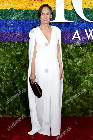 Laurie Metcalf arrives at the 73rd annual Tony Awards at Radio City Music Hall, in New York