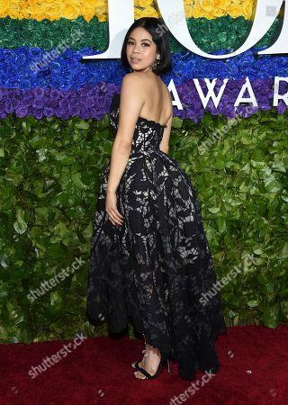Eva Noblezada arrives at the 73rd annual Tony Awards at Radio City Music Hall, in New York