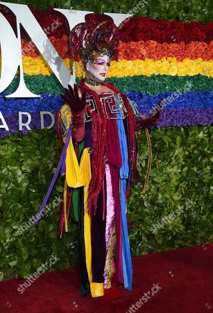 Taylor Mac arrives at the 73rd annual Tony Awards at Radio City Music Hall, in New York
