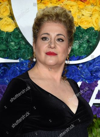 Mary Testa arrives at the 73rd annual Tony Awards at Radio City Music Hall, in New York