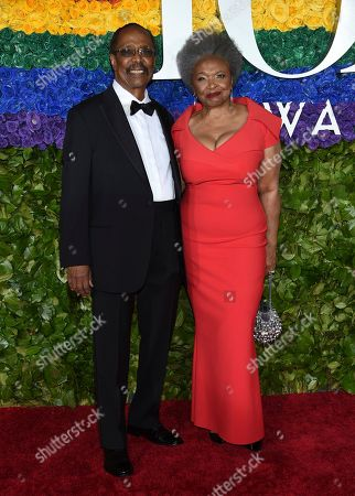Harold Wheeler, Hattie Winston. Harold Wheeler, left, and Hattie Winston arrive at the 73rd annual Tony Awards at Radio City Music Hall, in New York