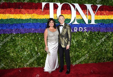 Charlotte St. Martin, Thomas Schumacher. Broadway League President and CEO Charlotte St. Martin, left, and The Broadway League Chairman Thomas Schumacher arrive at the 73rd annual Tony Awards at Radio City Music Hall, in New York