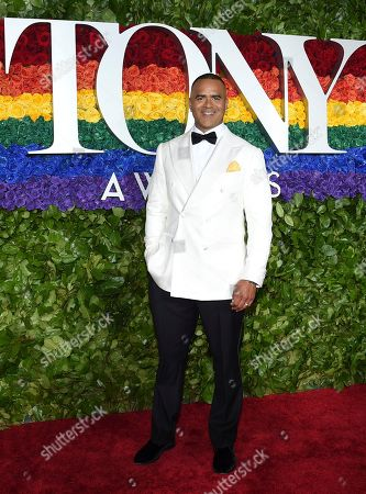 Christopher Jackson arrives at the 73rd annual Tony Awards at Radio City Music Hall, in New York