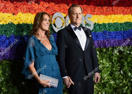 Stock Photo of Jeff Daniels, Kathleen Rosemary Treado. Kathleen Rosemary Treado, left, and Jeff Daniels arrive at the 73rd annual Tony Awards at Radio City Music Hall, in New York